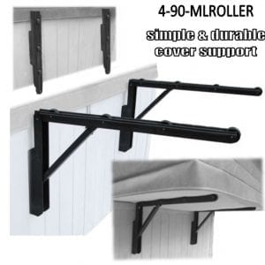 Folding Roller Spa Cover Holder Cabinet Mounted