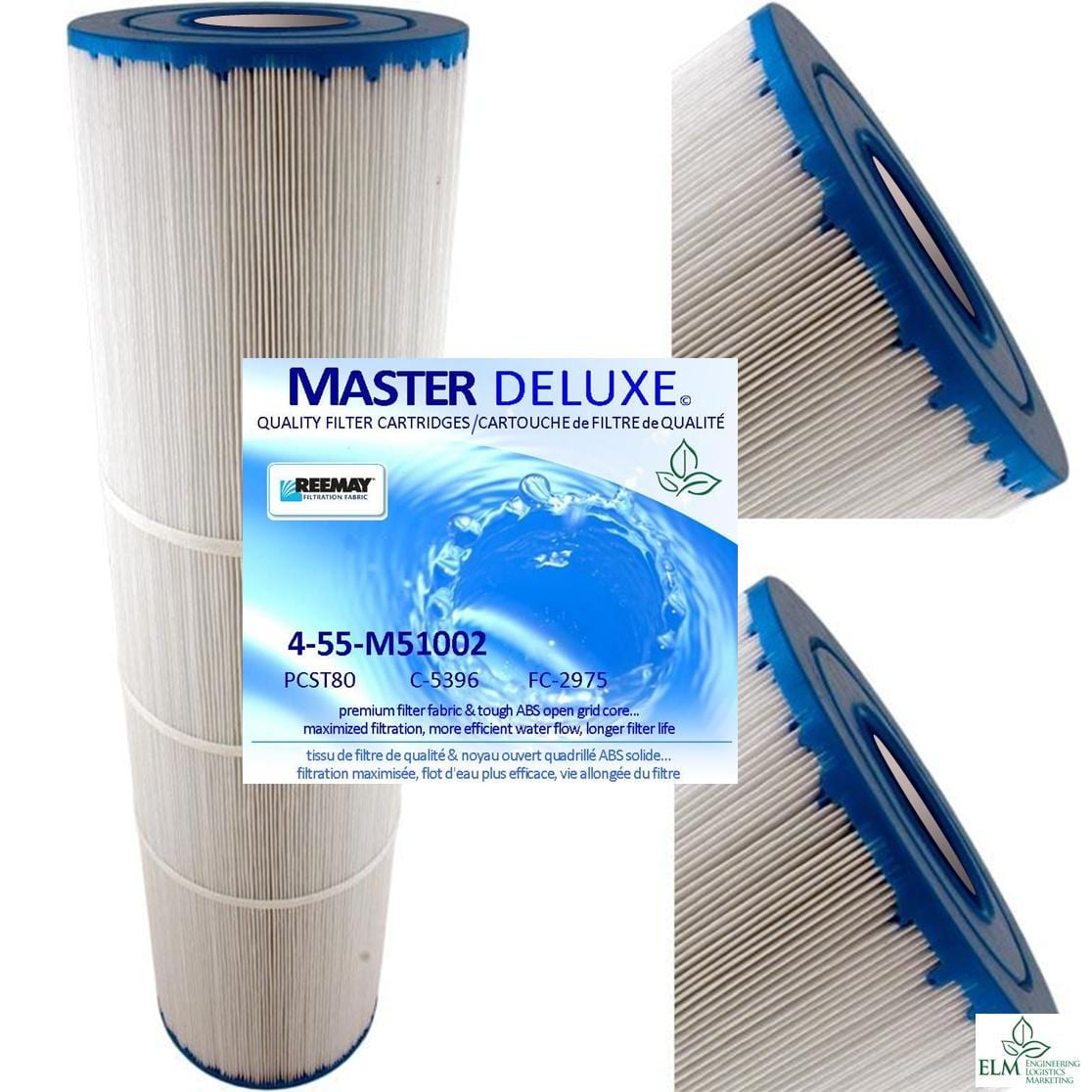 4-Pack of M51002 Spa Filter cartridges replace C-5396 FC-2975 PCST80