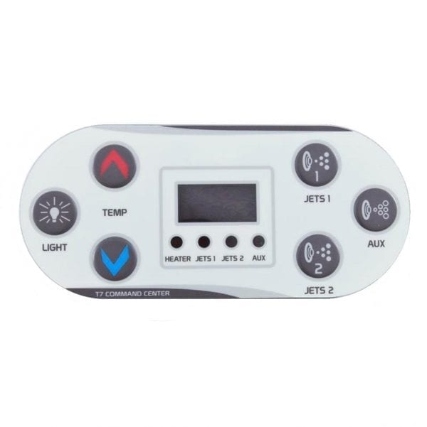 United Spa T7 Control Keypad Overlay