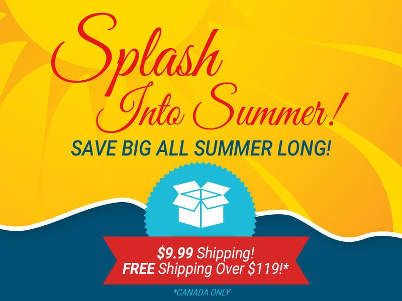 splash into summer! save big all summer long